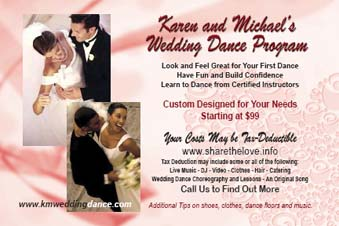 Wedding Dance Program